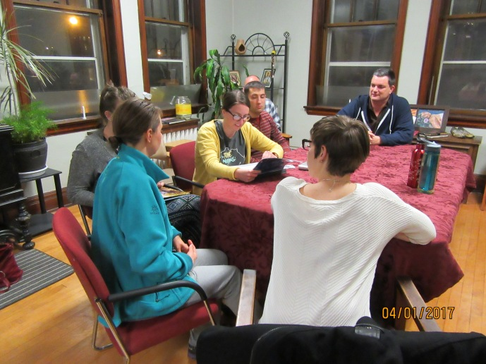 Catherine shares her story with fellow missioners.