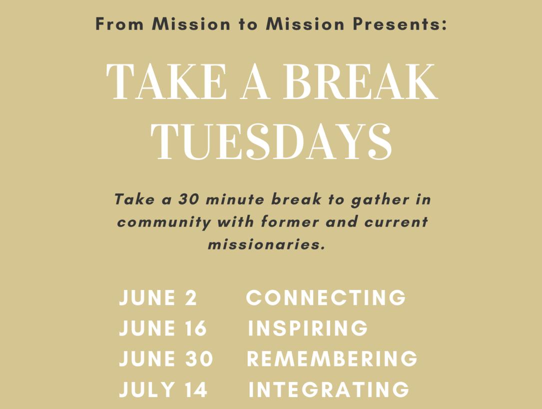 Take a Break Tuesdays Flyer